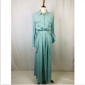 Soft surroundings Gauze Maxi Dress Aqua xs-2X